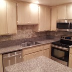 Example of kitchen cabinet refacing