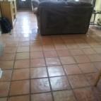 New stone floor