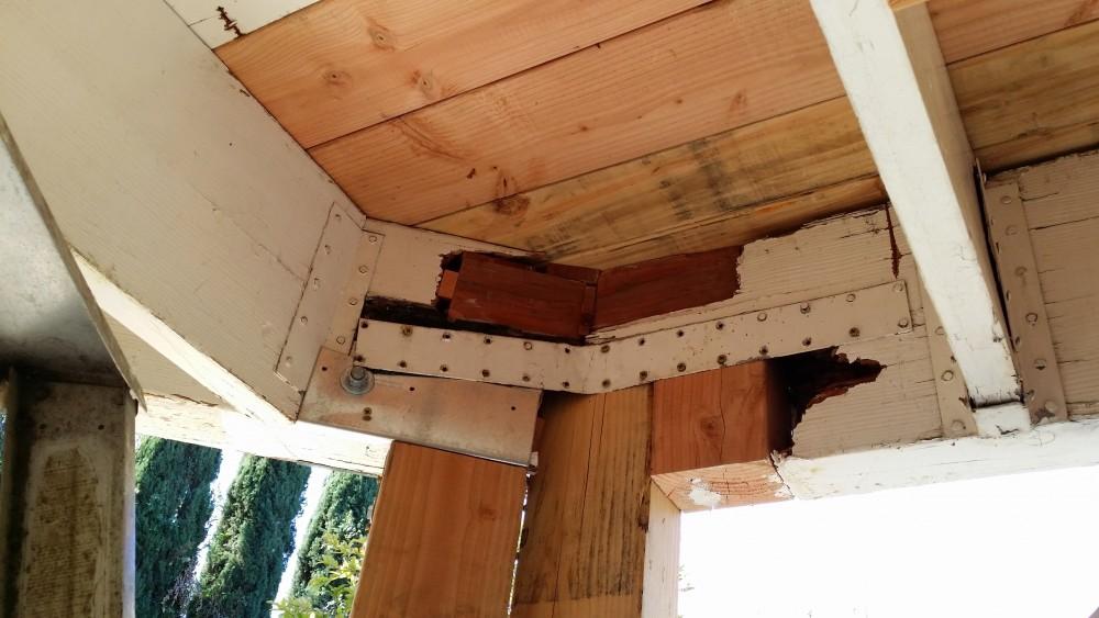 Repairing deck frame