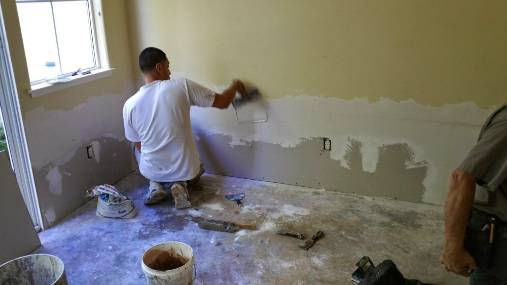 drywall repair during 2